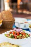 Healthy breakfast outdoors Stock Image