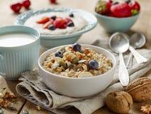 Healthy breakfast porridge Stock Photography