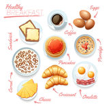 Healthy Breakfast Poster Stock Image