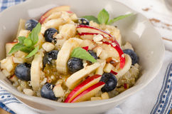 Healthy breakfast quinoa with fresh berries, fruits Royalty Free Stock Photography