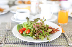 Healthy breakfast salad with vegetables Stock Photo