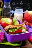 Healthy breakfast for school Stock Photos