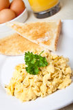Healthy breakfast of scrambled Royalty Free Stock Photography