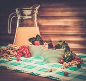 Healthy breakfast still-life Royalty Free Stock Images