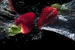 Healthy breakfast, strawberries clash Stock Image