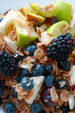 Healthy breakfast, summer fruits Royalty Free Stock Images