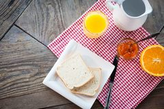 Healthy breakfast on the table Royalty Free Stock Photo