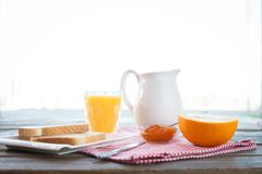 Healthy breakfast on the table Royalty Free Stock Photography
