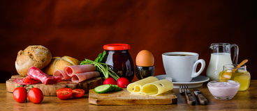 Healthy Breakfast on Table Stock Images