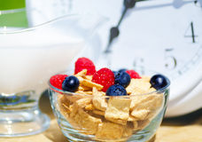 Healthy breakfast time Royalty Free Stock Photos
