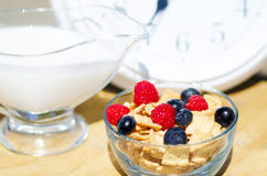 Healthy breakfast time Royalty Free Stock Images