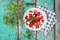 Healthy breakfast, top view Stock Photos