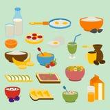 Healthy breakfast vector set. Royalty Free Stock Photos