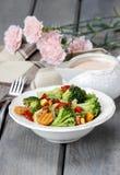 Healthy breakfast: vegetable salad stock images