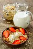 Healthy Breakfast. Whole grain muesli with a Royalty Free Stock Image