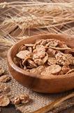 Healthy breakfast - whole grain muesli with a walnut Royalty Free Stock Photography