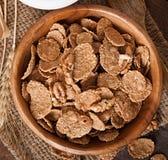 Healthy breakfast - whole grain muesli with a walnut Royalty Free Stock Photos