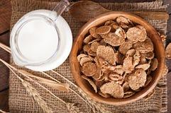 Healthy breakfast - whole grain muesli with a walnut Stock Photography