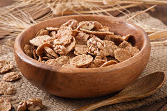 Healthy breakfast - whole grain muesli with a walnut Royalty Free Stock Photo