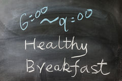 Healthy breakfast words Stock Photography