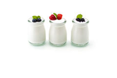 Healthy breakfast with yogurt and berry, dieting, freshness, Min Stock Photo