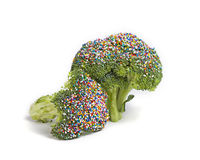 Healthy Broccoli with Sprinkles Stock Photography