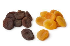 Healthy brown and orange dried apricot fruit Stock Photo