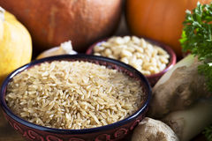 Healthy Brown Rice Still Life Royalty Free Stock Photography