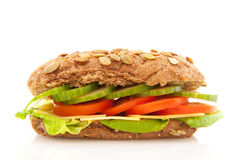 Healthy brown sandwich Royalty Free Stock Photo