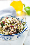 Healthy brunch, almonds and orzo salad Royalty Free Stock Images