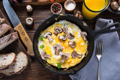 Healthy brunch idea on wooden table Stock Photography