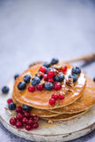 Healthy brunch with summer fruits Royalty Free Stock Images