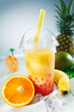 Healthy bubble tea tropical smoothie Royalty Free Stock Photography