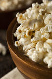 Healthy Buttered Popcorn with Salt Royalty Free Stock Images