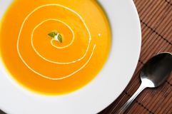 Healthy butternut squash soup. Royalty Free Stock Photography