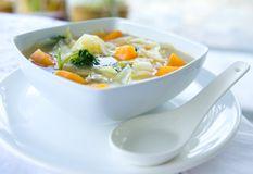 Healthy cabbage and sweet potato soup Stock Photography