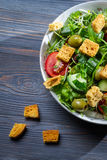 Healthy Caesar salad made of fresh vegetables royalty free stock image