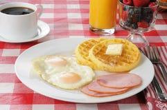 Healthy Canadian bacon breakfast Stock Photo