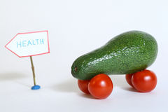 Healthy car from avocado and tomatoes Royalty Free Stock Photos
