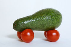 Healthy car from avocado and tomatoes Stock Image