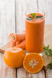 The healthy Carrot juice Royalty Free Stock Photo