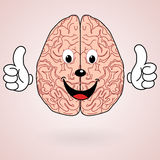 Healthy Cartoon Brain Stock Photo