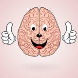 Healthy Cartoon Brain Stock Photo