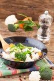 Healthy cauliflower and broccoli soup Stock Photo
