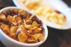Healthy cereal for breakfast Royalty Free Stock Image