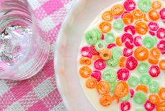 Healthy cereal for breakfast Royalty Free Stock Photos