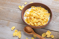Healthy cereal breakfast on a wooden surface Stock Photography