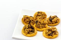 Healthy cereal cracker. Royalty Free Stock Photos