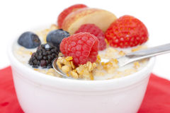 Healthy cereal and fruit breakfast Stock Photography