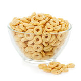 Healthy cereal rings isolated on white Royalty Free Stock Photography